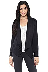 SF Jeans by Pantaloons Womens V-Neck Cape _Black_M