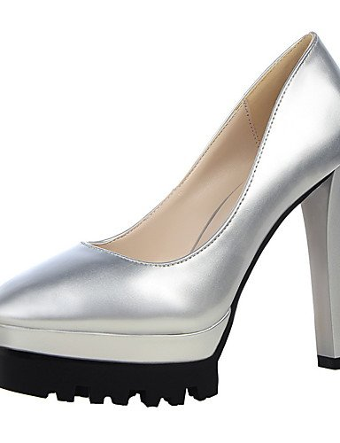 GS~LY Damen-High Heels-Kleid-Kunstleder-Stöckelabsatz-Absätze / Geschlossene Zehe / Spitzschuh-Schwarz / Lila / Rot / Weiß / Silber / Aktmalerei purple-us6.5-7 / eu37 / uk4.5-5 / cn37