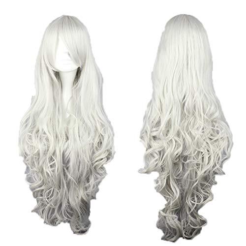 Hoverxe Cosplay-Perücke, langes Haar, hitzebeständig, spiralförmig, gewellt, für Cosplay, Partys