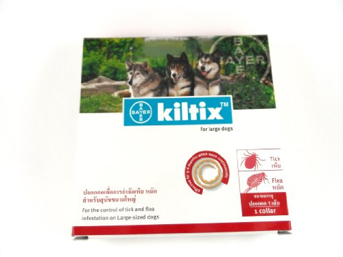 Kiltix Dog Collar Tick Flea Control Infestation, Large (5 Months)