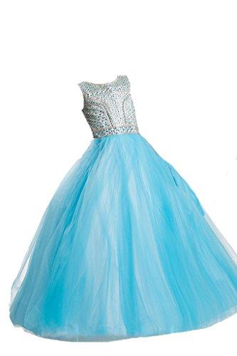 PuTao Prinzessin Mädchen Tüll Rhinestone Ball Gowns Party Geschenke Kleider