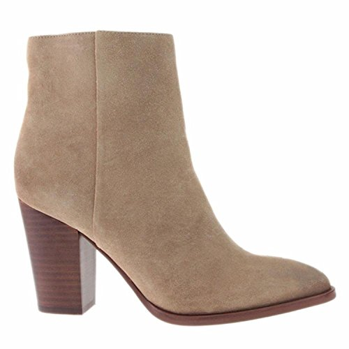 Sam Bootie Oatmeal Womens Blake Leather Suede Ankle Edelman Velour rIAqwzr