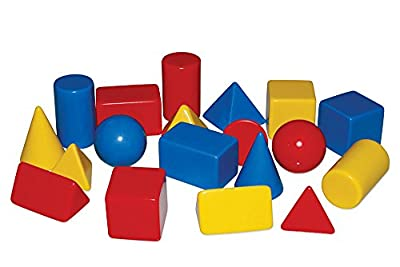"Inspirational Classrooms 3108502 ""Solid Shapes Educational Toy (Small, Pack of 24) from EdTech"