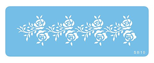 PME SB10 Jem Rosenbordüren-Schablone, Kunststoff, Blue, cm, 15 x 1 x 15 cm, 1 Einheiten
