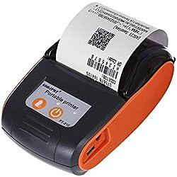 gaeruite 58mm Mini Imprimante Reçu Thermique sans Fil, Imprimante de Tickets de Caisse USB Compatible avec iOS, Android, Windows