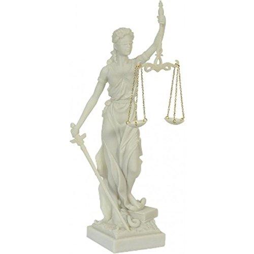 k.A Figura de la diosa romana Justitia, color blanco