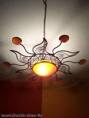 Marokkanische Lampe Soleil orange von Marrakesch bei Lampenhans.de