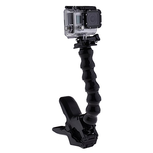 Neewer NeewerJaws Flex Clamp Arm Mount and Adjustable Goose Neck for GoPro Camera Hero 4/3+/3/2/1 Black