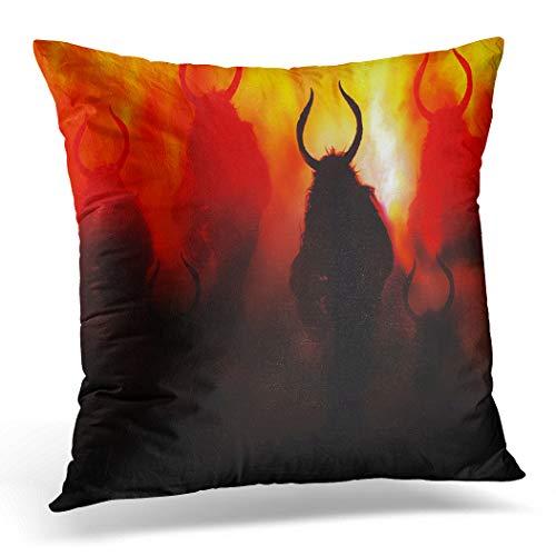 Halloween Aberglauben - Topyee Kissenbezug Satan Demons Coming Devil
