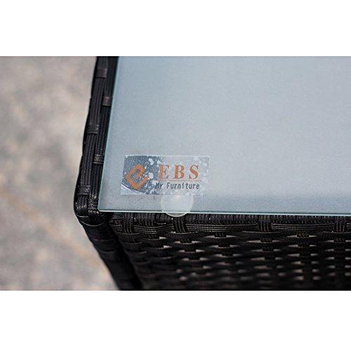 EBS® Polyrattan Gartenmöbel Set Lounge Weiß - 7