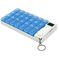 GossipBoy Trennbare Pillendose, Medikamentenbox, mit Timer, tragbar, elektronisch, für 7Tage, 28Fächer, mit... preisvergleich bei billige-tabletten.eu