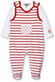 Kanz Unisex Baby Strampler + T-Shirt 1/1 Arm Bekleidungsset, Rot (Flame Scarlet|Red 2550), 56