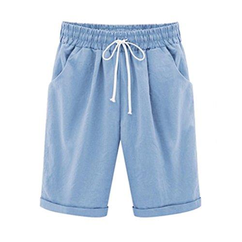 Plus Size Casual Women Cotton Linen Pants❤️❤️ Tefamore Newest Elastic Waist Summer Slim Lady Pants(Size:M-4XL)