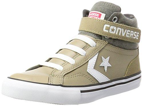 Converse Unisex-Kinder PRO Blaze Strap HI Khaki/Storm Wind/Whit Hohe Sneaker, Mehrfarbig, 20 EU