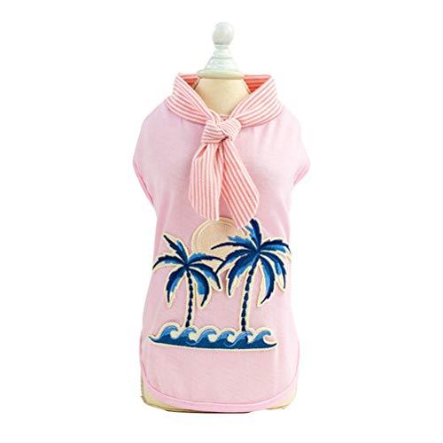 Feidaeu Pet Vest Cute Coconut Tree Pattern Coppia Cane Gatto Comodo Skin-Friendly Abbigliamento Abbigliamento Adatto per Piccoli e Medi Animali Domestici