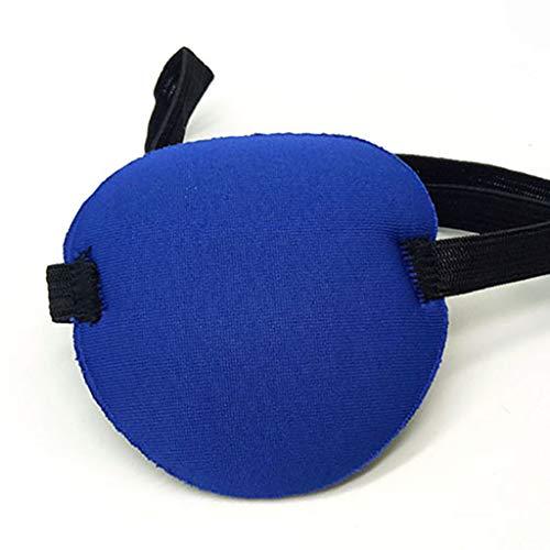FiedFikt Augenflicken, konkave Augenklappe, Schaumstoff, waschbar, mit Gurt, weicheres Material für Kinder, Erwachsene blau - Große Kinder-eis-blau-kleidung