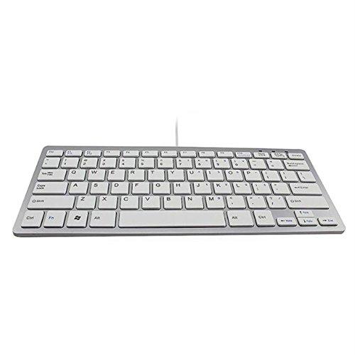 Preisvergleich Produktbild Iiintow USB Wired Tastatur Ultradünn Mini Computer Laptop Allgemeiner Zweck