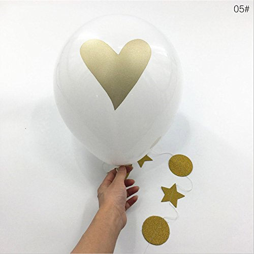 OPUSS Set, Deko, Luftballon, 10cm, Geburtstag, Party-Dekoration [balloons-choosing, Latex, 5#, 25,40 cm (5 Runde Sockel Stück)