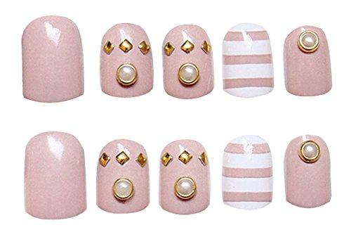 2 Boîtes(48Pièces) Élégant faux ongle/Classique style faux ongle, violet