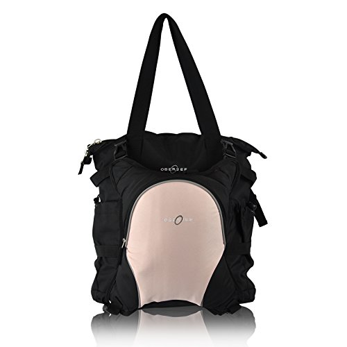 obersee-innsbruck-diaper-bag-tote-with-detachable-cooler-black-bubble-gum