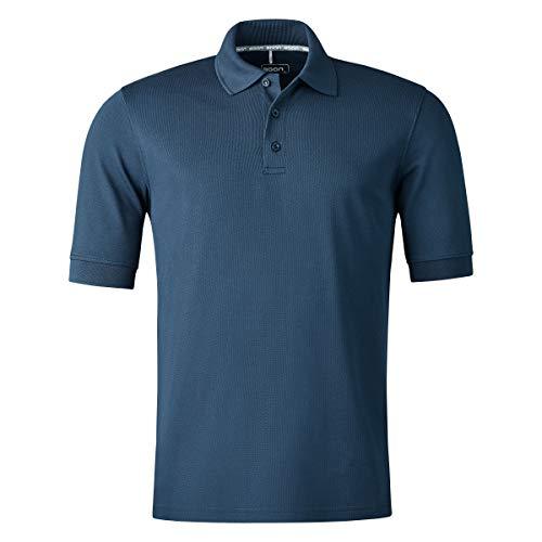 agon - Premium Herren Pique Polo-Shirt, bügelfrei, Coolmax, Coldblack, UV-Schutz, Geruchsblocker, atmungsaktiv, Kurzarm Marine 58/3XL