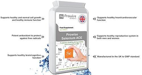 41NASxPm8GL - Prowise Selenio ACE 365 compresse - integratore giornaliero al giorno di selenio con vitamine A, C ed E