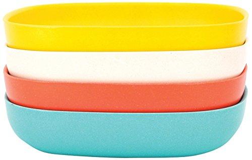 BIOBU-gusto-by-eKOBO-34611-assiette-creuse-pour-ptes-2-persimmonblancbleu-lagonjaune-citron
