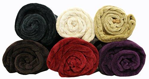 ehc - coperta in pile sintetico effetto visone, ideale per letto ... - Divano Letto A 3 Posti Color Crema
