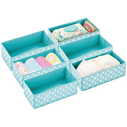 mDesign Juego de 6 Cajas de almacenaje para habitación Infantil o baño...