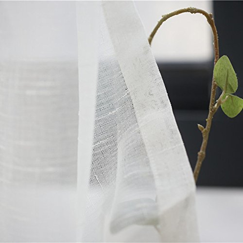 PP&DD Gardine aus Voile Vorhänge,Semi-transparent Haken-Stil Gardine Voile Schiere Vorhang,Für Schlafzimmer Wohnzimmer Eine Scheibe-A 400x265cm(157x104inch) -