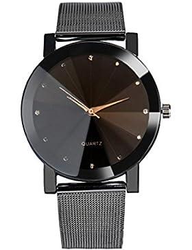 Sunnywill Frauen Mädchen Damen Schöne Mode Design Kristall Edelstahl Analoge Quarz Armbanduhr für Weibliche