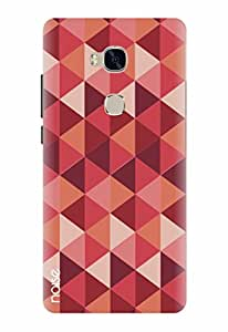 Noise Diamond Red Printed Cover for Huawei Honor 5X
