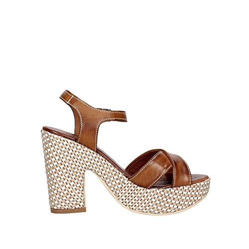 Pregunta PZ574 004 Sandalo Donna Cuoio