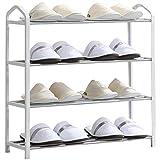 Schuhregal Einfacher Hauptschlafsaal-Mehrschichtmetallzusammenbau-Wohnzimmer-Schuh-Kabinett Rollsnownow