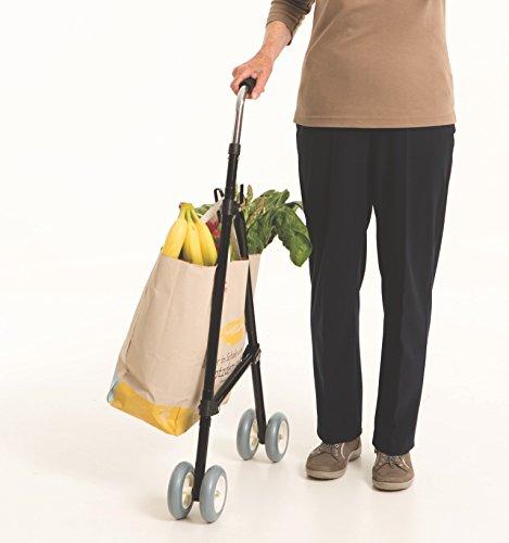 Daily 23697 Shoppi Einkaufshilfe und Tragehilfe, Metall, schwarz, 54 x 10 x 89 cm