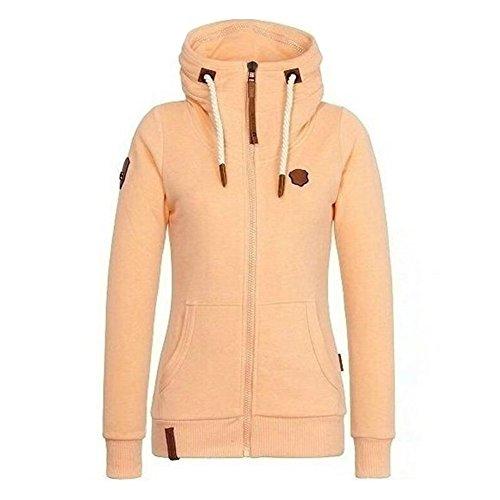 Cappotti Oversize Donna - Felpe Invernale Autunno Hoodie Manica Lunga Sweatshirt Sportivo Rosa Giallo Grigio Blu Rosso S / M / L / XL / 2XL / 3XL / 4XL / 5XL Yuxin Giallo