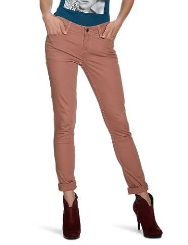 PIECES Damen Hose 17045239 Funky Five Legging Burlwood, Gr. 34/36 (XS/S), Braun (BURLWOOD)