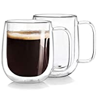 Double Wall Isolated Glass Coffee Mug 250ml