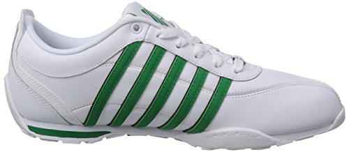 K-Swiss Herren Arvee 1.5~Blk/Opal Gray/Wht/Tango Red~m Sneakers Weiß (WHITE/JOLLY GREEN/BLACK 144)