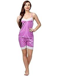 Miavii Women 2 Pc's PinkNightdress/Nightwear- Pack of Top and Shorts