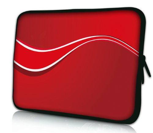 Luxburg® Design Laptoptasche Notebooktasche Sleeve für 17,3 Zoll, Motiv: Strümpfe Retro Rot