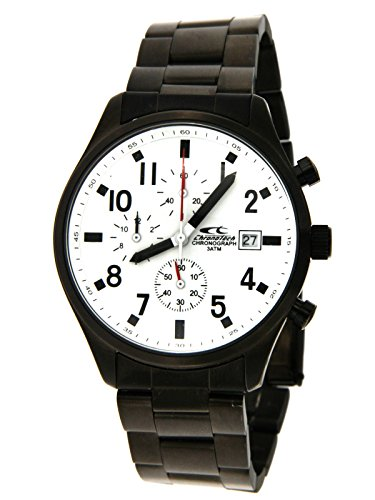 Chronotech Men Clock with Strap in Stainless Steel with PVD Treatment Brown