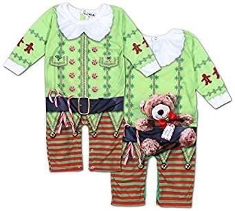 Christmas Realistic T-shirt Kids Infant Christmas Elf Romper 6 Months Fancy (Damen Dress Elf Fancy)