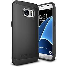 Funda Galaxy S7, Snugg Samsung Galaxy S7 Case Slim Carcasa de Doble Capa [Infinity Series] Revestimiento con Protección Anti-Golpes – Negro