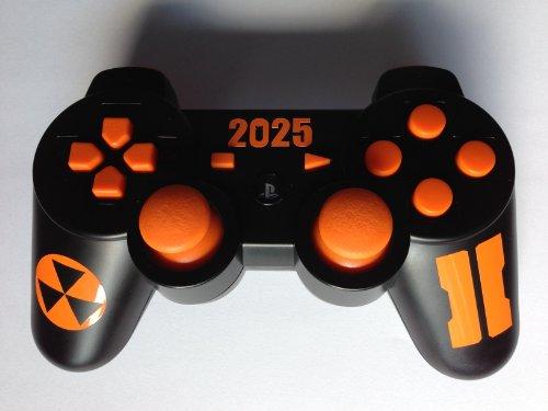 Call of Duty Black Ops 2 Design Aufkleber Skin Orange für Sony Playsation 3 Controller PS3 (Ps3 Skins-orange Controller)