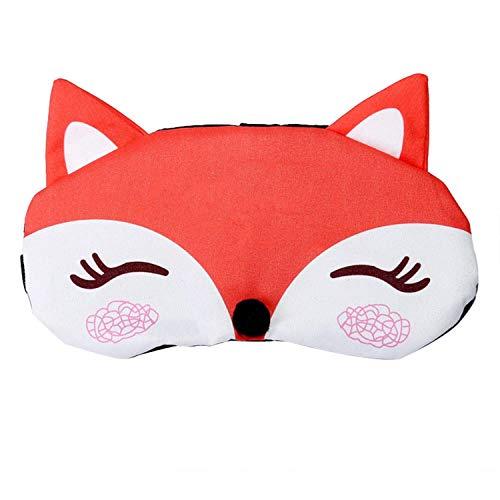 FeiyUan Wunderbare Männer und Frauen Eisbeutel Hot Cartoon Little Fox Augenschutz Schattenmaske Jujubenrot für Zuhause Dekoration - Watermelon Red Fox 925 - Men Eye Soother
