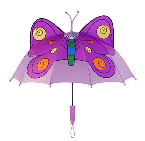 Schmetterling Kinder Regenschirm, ffuchsia Kinder Regenschirm BUTTERFLY, Prinzessin Regenschirm (Prinzessin Butterfly)