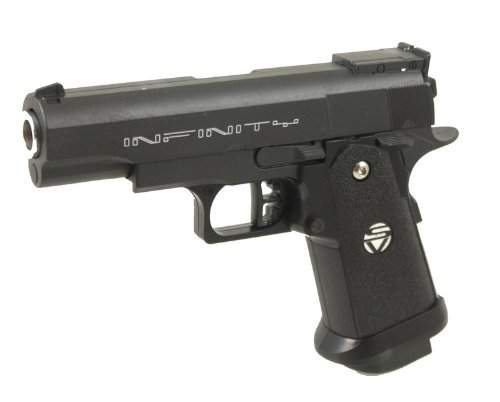 Pistole VOLLMETALL G10 0,5 Joule 6mm Waffe ab 14 Jahren freigegeben ()