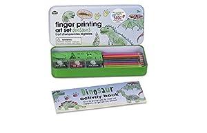 NPW Juego infantil de pintura con los dedos - Kit de dinosaurio para imprimir con los dedos