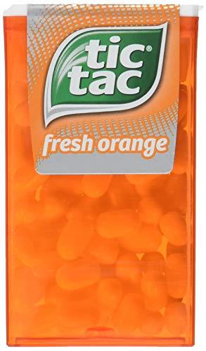 tic tac fresh orange Vorratspack, 16er Pack (16 x 49 g Packung) (Tic Tac Süßigkeiten)